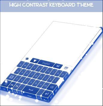 High Contrast Keyboard Theme apk screenshot