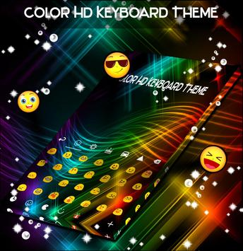 Color HD Keyboard Theme poster