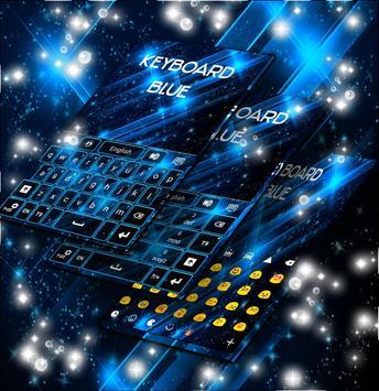 Keyboard Theme Blue Stars screenshot 1