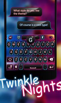 Twinkle Night GOKeyboard Theme poster