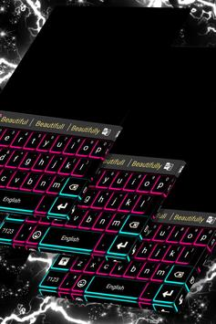 Neon Lights Keyboard Theme poster