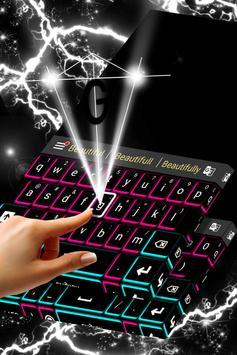 Neon Lights Keyboard Theme apk screenshot