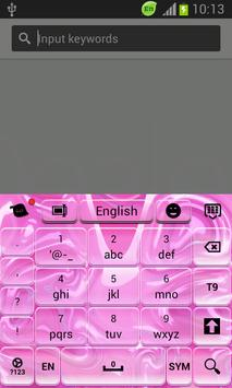 Keyboard for Android Free Pink apk screenshot