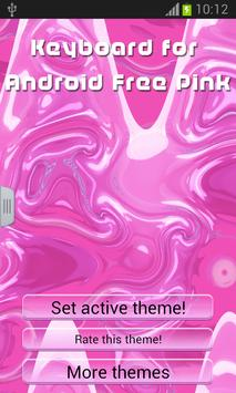 Keyboard for Android Free Pink poster