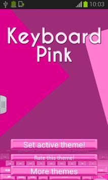 Keyboard Pink Theme poster