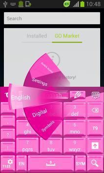 Keyboard Pink Theme apk screenshot