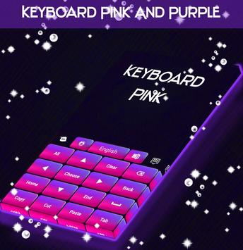 Keyboard Pink And Purple poster