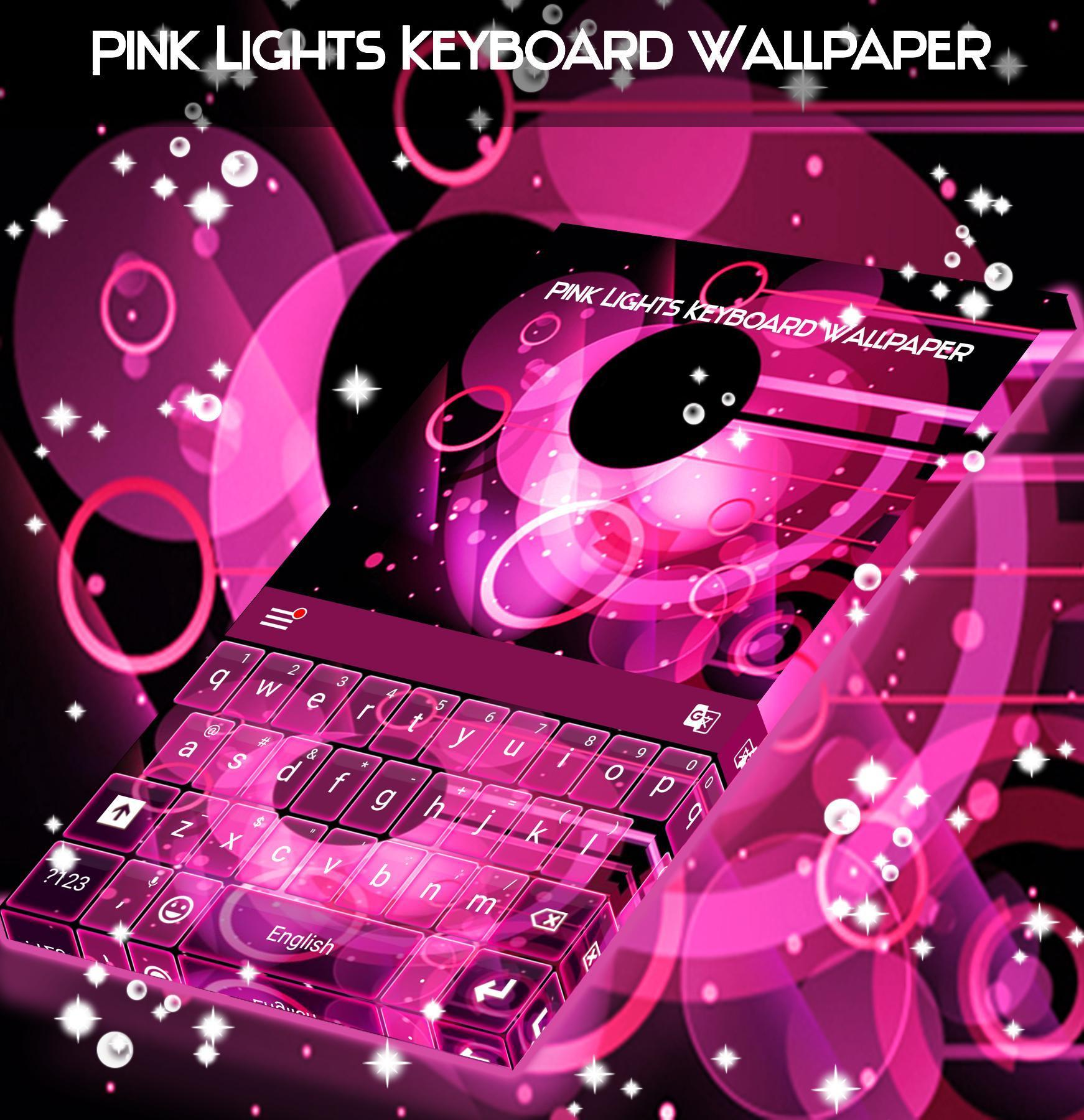 Pink Lights Keyboard Wallpaper For Android Apk Download