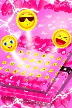 Keyboard Hot Pink Hearts Theme screenshot 4
