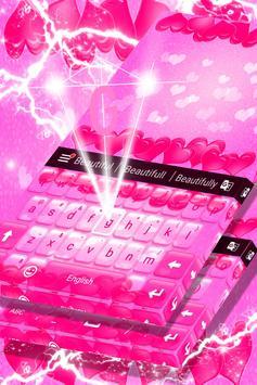 Keyboard Hot Pink Hearts Theme screenshot 3