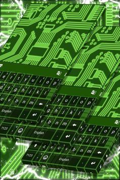 Neon Circuits Keyboard poster