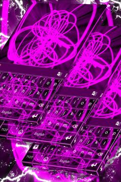Neon Keyboard for Galaxy S4 poster