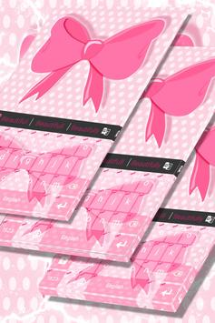 Pink Bow Keyboard Theme poster