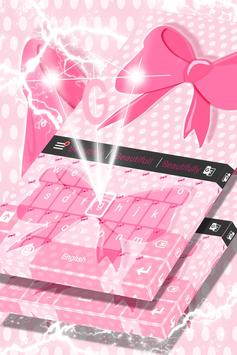Pink Bow Keyboard Theme screenshot 3