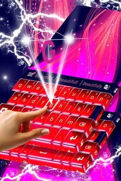 Pink Fire Keyboard Theme apk screenshot