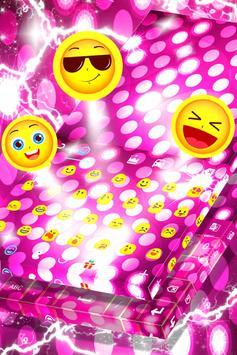 Pink Sparkle Keyboard Theme apk screenshot