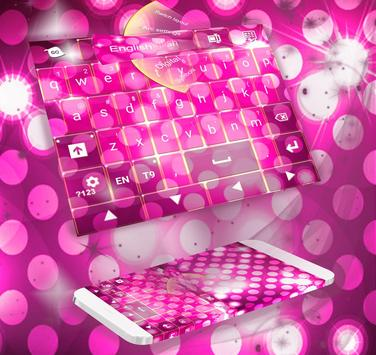 Pink Sparkle Keyboard Theme poster