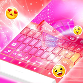 Pink Theme Keyboard Background icon
