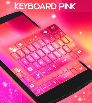 Pink Theme Keyboard Background poster