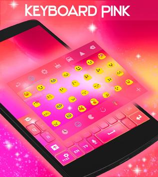 Pink Theme Keyboard Background apk screenshot