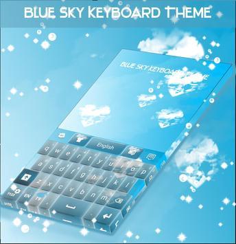 Blue Sky Keyboard Theme screenshot 3
