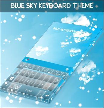 Blue Sky Keyboard Theme poster