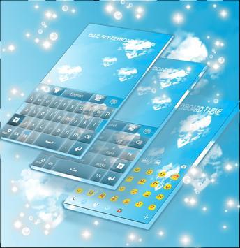 Blue Sky Keyboard Theme screenshot 2