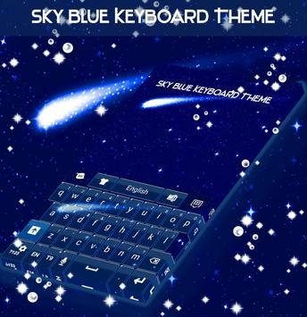 Sky Blue Keyboard Theme screenshot 3