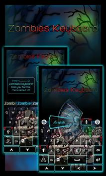 Zombies GO Keyboard Theme poster