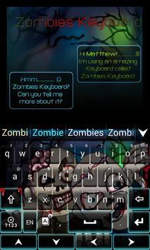 Zombies GO Keyboard Theme screenshot 2