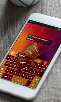 Muddy Red Keyboard Theme apk screenshot