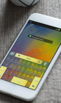 Marigold shine Keyboard Theme apk screenshot