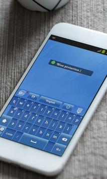 Optimistic Blue Keyboard Theme apk screenshot