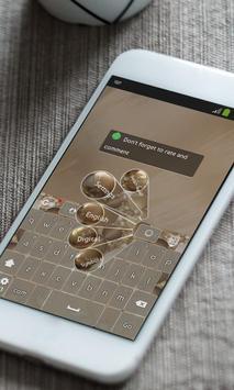Golden coins Keyboard Theme apk screenshot