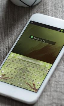 Green army Keyboard Theme apk screenshot