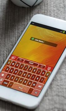 Lava blasts Keyboard Theme apk screenshot