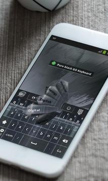 Pure black Keyboard Theme apk screenshot