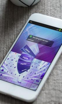 Purple Rebirth Keyboard Theme screenshot 3