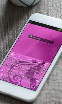 Pink Lady Keyboard Theme apk screenshot