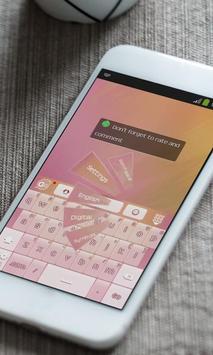 Strawberry pink Keyboard Theme apk screenshot