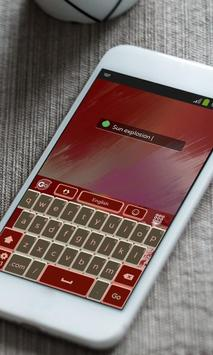 Sun explosion Keyboard Theme apk screenshot