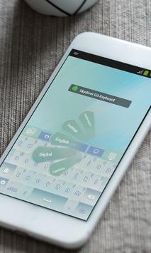 Skydiver Keyboard Theme apk screenshot