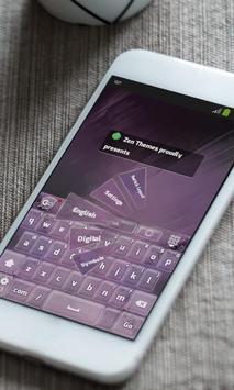 Translucid purple Keyboard poster