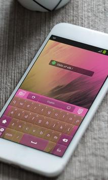 Veils of silk Keyboard Theme apk screenshot