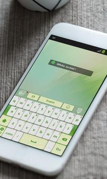 White orchid Keyboard Theme apk screenshot