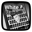Black and White Keyboard Theme APK