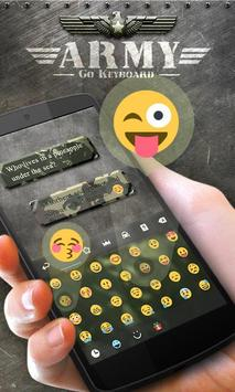 Army GO Keyboard Theme & Emoji apk screenshot