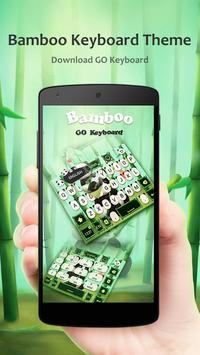 Bamboo GO Keyboard Theme Emoji poster