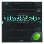 Black Tech GO Keyboard Theme icon