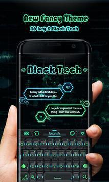 Black Tech GO Keyboard Theme poster